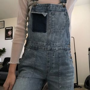 Forever 21 Jeans - Patchwork pocket Overalls